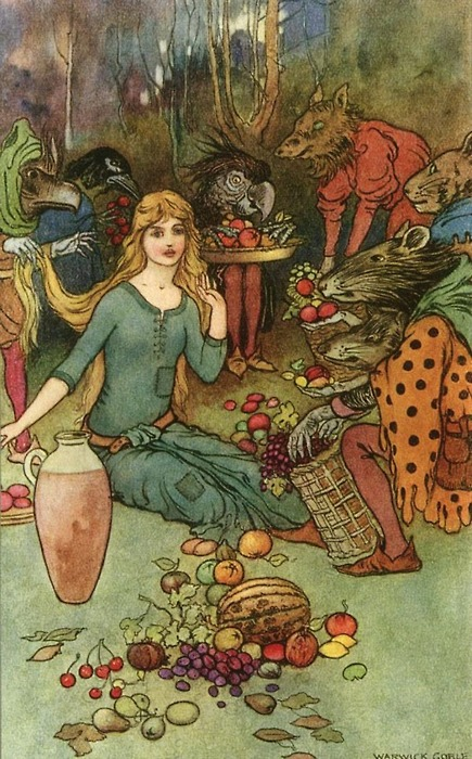 Goblin Market by Warwick Goble