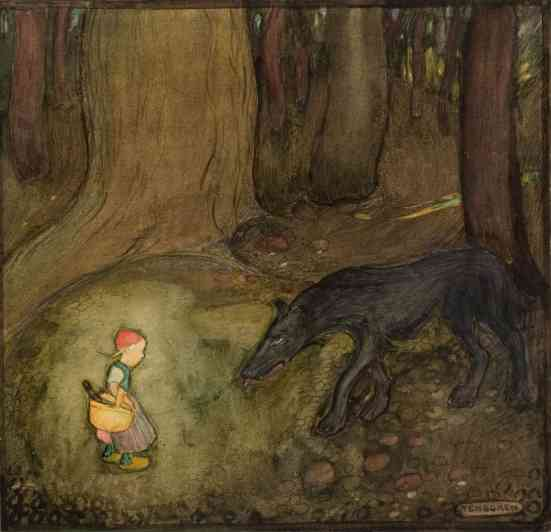 Little Red Riding Hood by Gustaf Tenggren