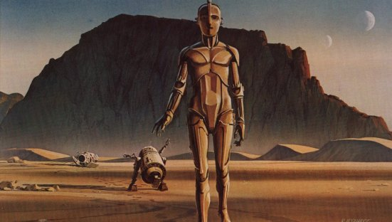 R2-D2 and C3-PO by Ralph McQuarrie