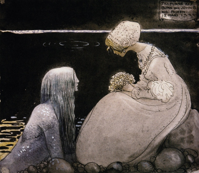 Agneta and the Sea King by John Bauer