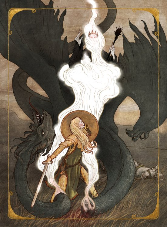 Eowyn and the Nazgul by Erin Kelso