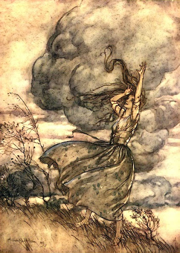 Undine in the Wind by Arthur Rackham