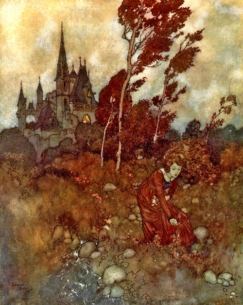 Princess in the Fields at Twilight by Edmund Dulac
