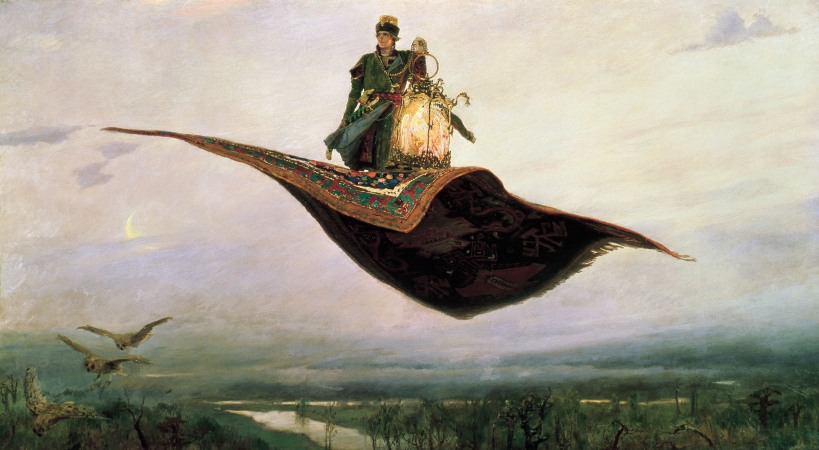 The Flying Carpet by Viktor Vasnetsov