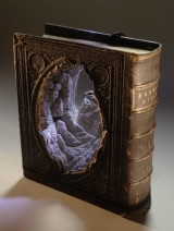 Carved Book Landscape by Guy Laramée