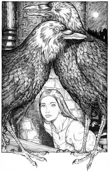 The Girl and the Ravens by Tim Stevens