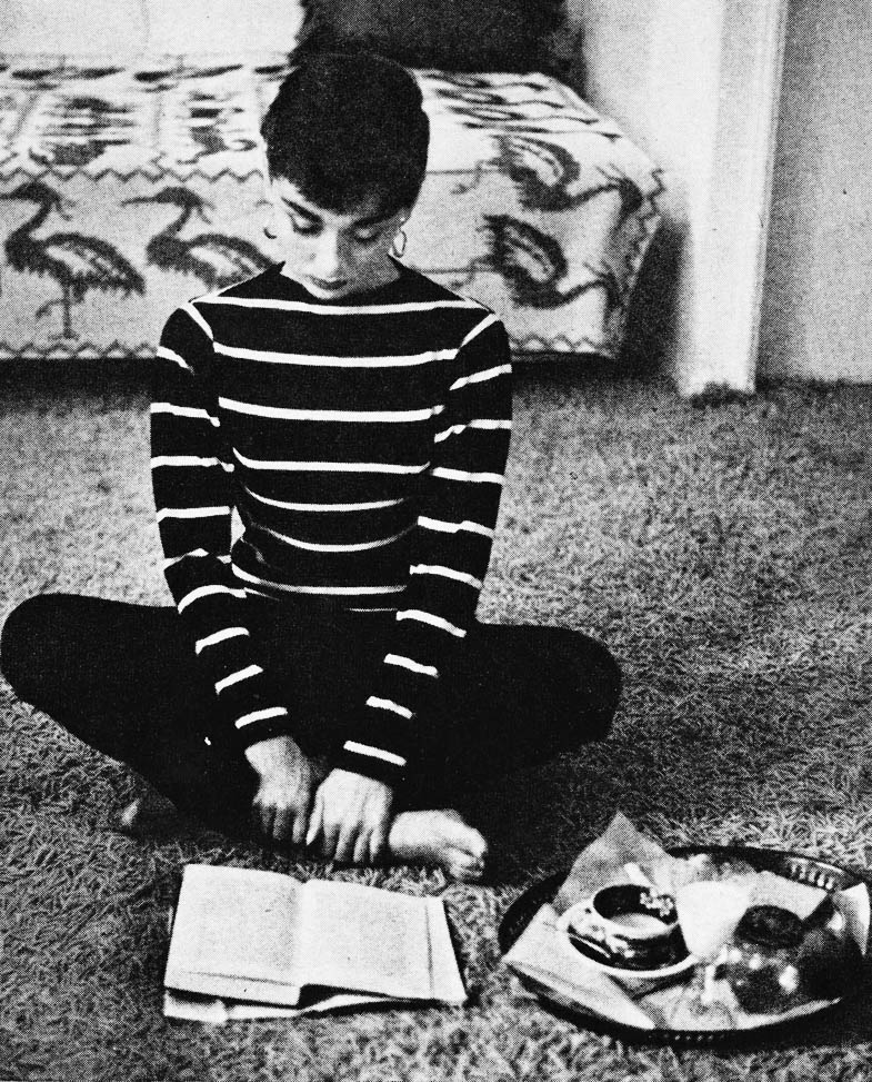Audrey Hepburn Reading By Mark Shaw Gathered Nettles