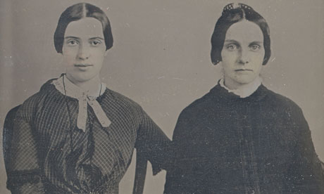 Emily Dickinson (left) and Kate Scott Turner,1859. Photograph: Amherst College Archives