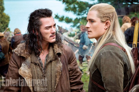 Orlando Bloom and Luke Evans in There and Back Again