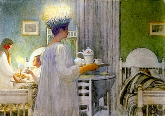 Lucia Procession by Carl Larsson