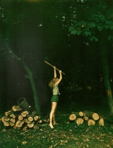 The Girl with an Axe by HelmutNewton