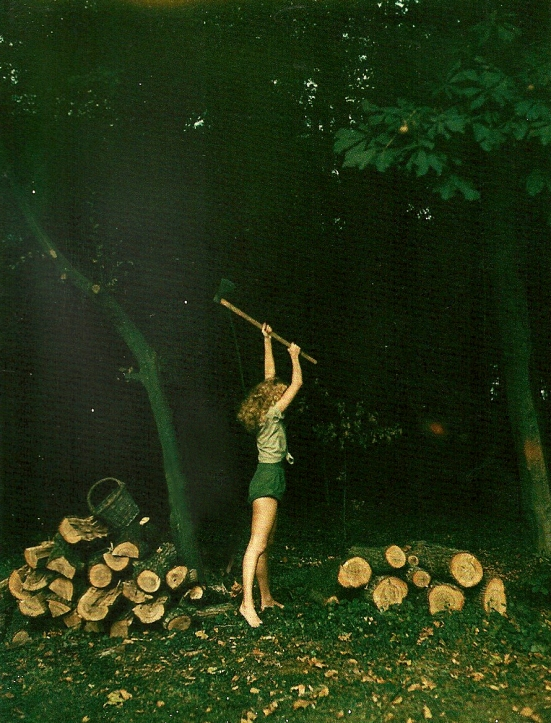The Girl with an Axe by Helmut Newton