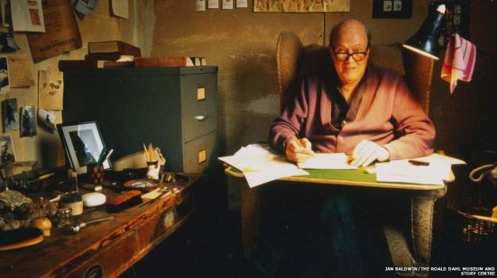 Roald Dahl at work