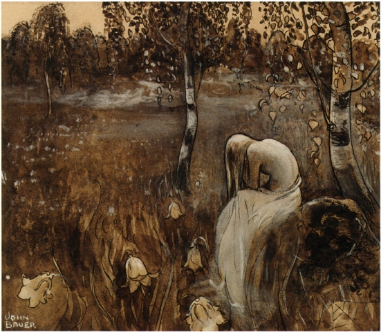 At Dawn by John Bauer